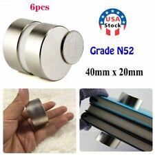 6pcs 40mm20mm N52 Large Neodymium Rare Earth Magnet Big Super Strong Huge Hot