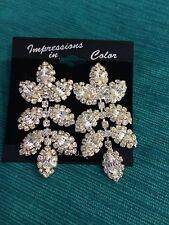 Rhinestone Vintage Earrings Drop Beautiful Formal Wear Bridal Ball Room Dance
