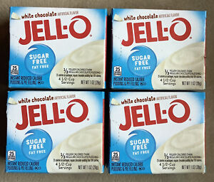 White Chocolate SUGAR FREE PUDDING INSTANT JELL-O, FREE Ship JELLO (lot of 4)