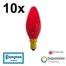 10 x Crompton 40w SES - E14 Fireglow Bougie Ampoule Lumière 35mm (FIRCAN40SES)