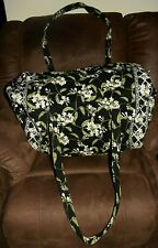 Vera Bradley LARGE Duffle Bag Retired Jasmine Black Green Travel