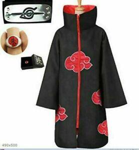 NARUTO Anime Akatsuki Uchiha Itachi Cloak Anime Cosplay Unisex Costume ninja