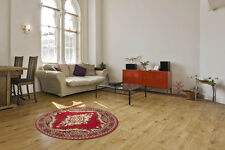 Klassische Teppiche Floral Flachflor Designer NEU SALE Rot Beige ∅ 120 cm