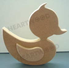 LARGER DUCK WITH WING IN MDF (150mm x18mm thick)/WOODEN CRAFT/DECORATION PLAQUE