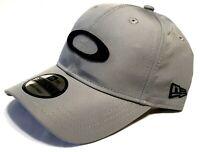 RARE OAKLEY ICON HAT Grey w/ Black New Era 9Twenty Adjustable Strapback Golf Cap