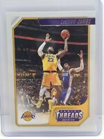 2019-20 Panini Chronicles Basketball LeBron James Threads #86 Los Angeles Lakers