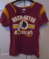 NFL Washington Redskins Ladies V-Neck T-Shirt Large NWT Brand New