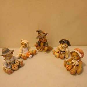 CHERISHED TEDDIES Fall Halloween Autumn Lot of 5 Gary Tabitha Gretel no boxes