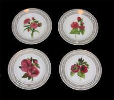 4 SAVINIO Fleur De Rouge Floral & Gold Accents Bread Appetizer Plates NWT $60