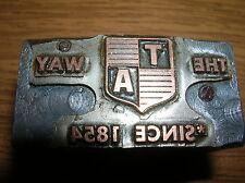 Copper & Wood Block Printing PRINTERS Stamp The T A Way 1824 EMBLEM Vintage