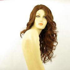 Perruque femme longue ondulée châtain doré cuivré PRISCA 30