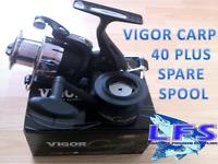 Lineaeffe Vigor 40 Carp Fishing FREE RUNNER  Reel With Spare Spool