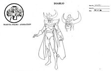 Fantastic 4 Tv Series 1994 Production Diablo Marvel Studio Copy Model Sheet