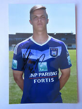 JORN VANCAMP 2016-2017 PHOTO OFFICIEL 13X19 CM SIGNEE RSC ANDERLECHT
