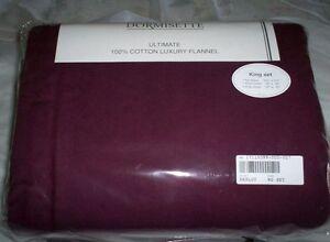 Merlot KING or CAL KG Flannel Sheet Set THE BEST Dormisette Thick German Cotton