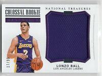 2017 LONZO BALL Panini NATIONAL TREASURES Colossal Rookie Materials Jersey 17/99
