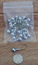 JIGHEADS 25 1/4 oz. ROUND TAPERED BARB COLLAR UNPAINTED JIG HEADS