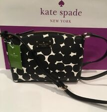 Kate Spade Millie Grove Street Splodge Dot Blk/Cream CrossBody Bag WKRU4681 $199