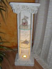 Antike Säule mit Licht Steinsäule Blumensäule Blumenständer Eckregal Eckvitrine
