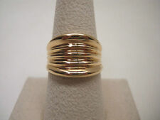 18KT Yellow Gold Wide Cigar Band Ring Sz.8