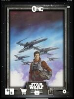 Star Wars Digital Card GRAY CTI Wave III Wedge Antilles Illustrated.
