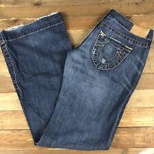 True Religion Women's Boot Cut Jeans Size 28 (32x33) USA Medium Wash Mid Rise