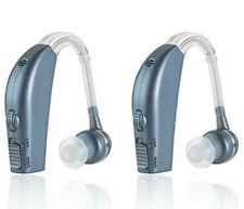 Digital Hearing Sound Amplifier Enhancer Rechargeable All Day Battery Blue