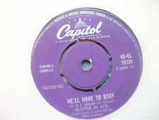"""JEANNE BLACK - HE'LL HAVE TO STAY  7"""" VINYL RECORD VERY GOOD + CONDITION"""