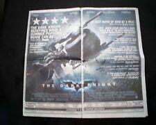 Best THE DARK KNIGHT Superhero Movie Opening Day AD 2008 Los Angeles Newspaper