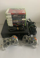 Microsoft Xbox 360 250GB Console Bundle - 10 Games - 2 Controllers - C11