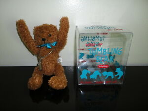 Schylling 2004 Wind Up Metal Key TUMBLING BEAR 7 inch NEW in Box