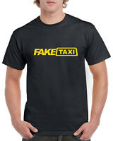 Fake Taxi Logo Funny Novelty Gift Stag Do 100% Cotton T-Shirt