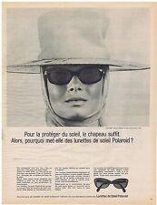PUBLICITE ADVERTISING 104 1965 Les Lunettes de Soleil POLAROID