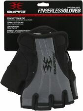 Empire Fingerless Gloves Tw - Black Tactical Paintball Leather Palm Padded S/M