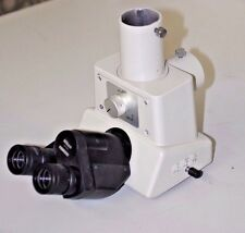 Nikon Microscope Trinocular Head with 10x CFWN eyepieces and extra camera port