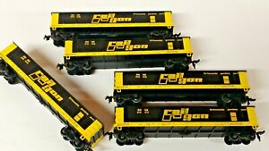 HO Scale(5) Mantua Rail-Gon 40' Gondolas with Coal Loads, Different Numbers