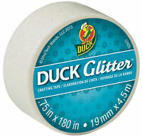 Duck Brand Glitter Mini Crafting Decorating Tape Sparkle Effect White