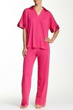 NEW N NATORI WILD PINK CONGO TUNIC PJ PAJAMA 2PC SET SZ L LARGE