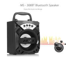 Portable Wireless BT Speaker W/ LED Lights 3'' Driver Unit FM 88-108MHz
