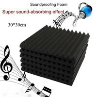 "12 Pack - Acoustic Panels Studio Soundproofing Foam Wedge tiles 1""x12""x12"" NEW"
