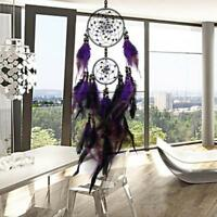 Dream Catcher Wind Purple Chimes Feather Home Decor Handmade Net Car Wall Hang