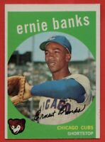 1959 Topps #350 Ernie Banks VG-VGEX+ CREASE Chicago Cubs HOF Free Shipping