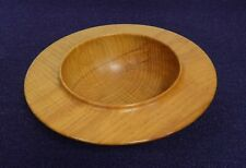 Contemporary hand turned ash wooden bowl