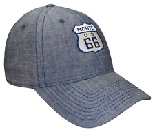 Blue Jean Denim US Route 66 Will Rogers Highway Ball Cap Caps Hat Hats USA Jeans