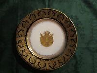 Assiette Napoléon 1er Royaume Italie Couronne De Fer  Porcelaine de Sèvres
