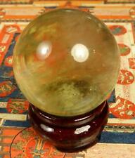 TIBET REAL UNHEATED YELLOW CITRINE QUARTZ CRYSTAL BALL SPHERE GANESH HIMAL 152gm