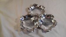 Reed and Barton Sterling Silver 1940 Sectional Leaf Candy Dish X102B