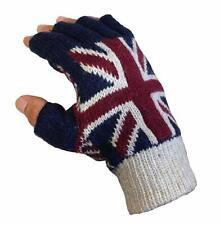 Mens Ladies Union Jack Fingerless Gloves