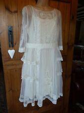 Alice Temperley Vintage Downton Style Ivory Botanical Lace Dress Sz 14-16, NWT