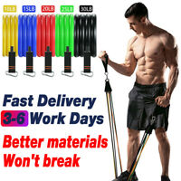 11pcs Set Resistance Bands Fitness Trength Training Home Gyms Workout Exercise